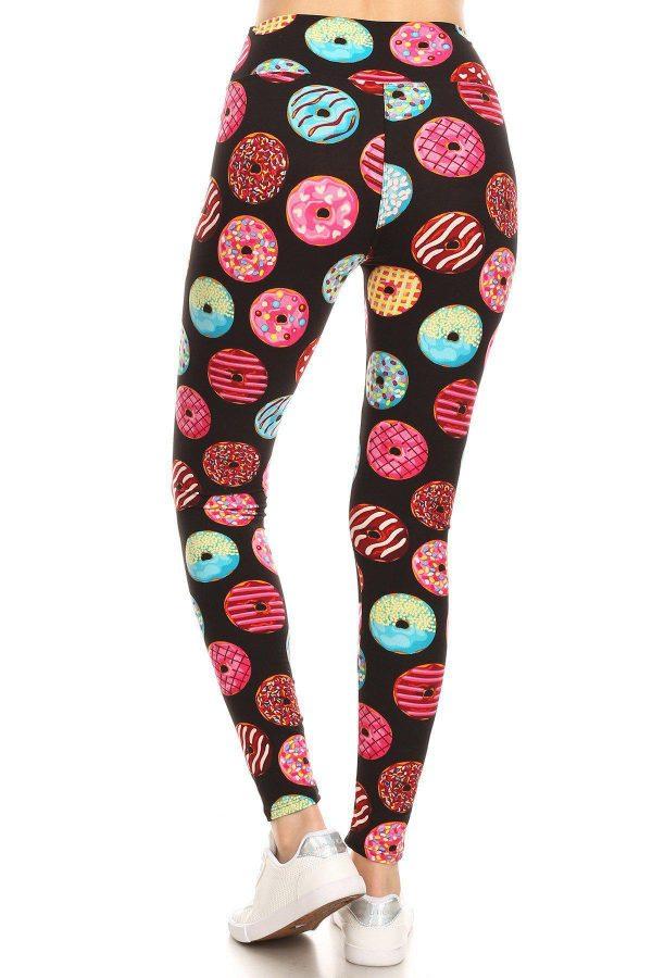 Yoga Band Donuts Printed Leggings 3