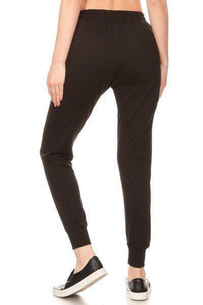Solid Black Joggers Sweatpants 3