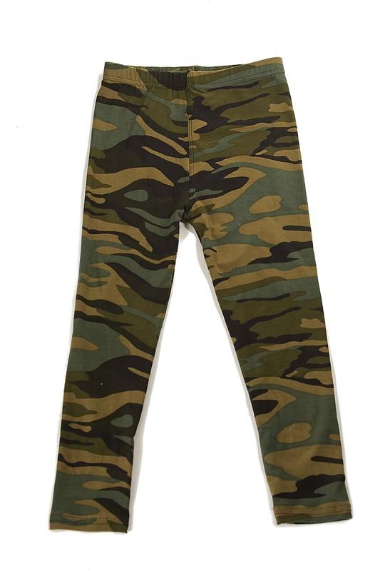 Camouflage Brushed Yummy Print Kids Legging 1