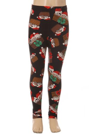 Christmas Print Kids Leggings 4