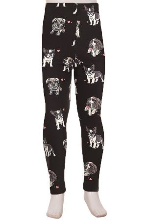 Dogs Printed Kids Leggings 3