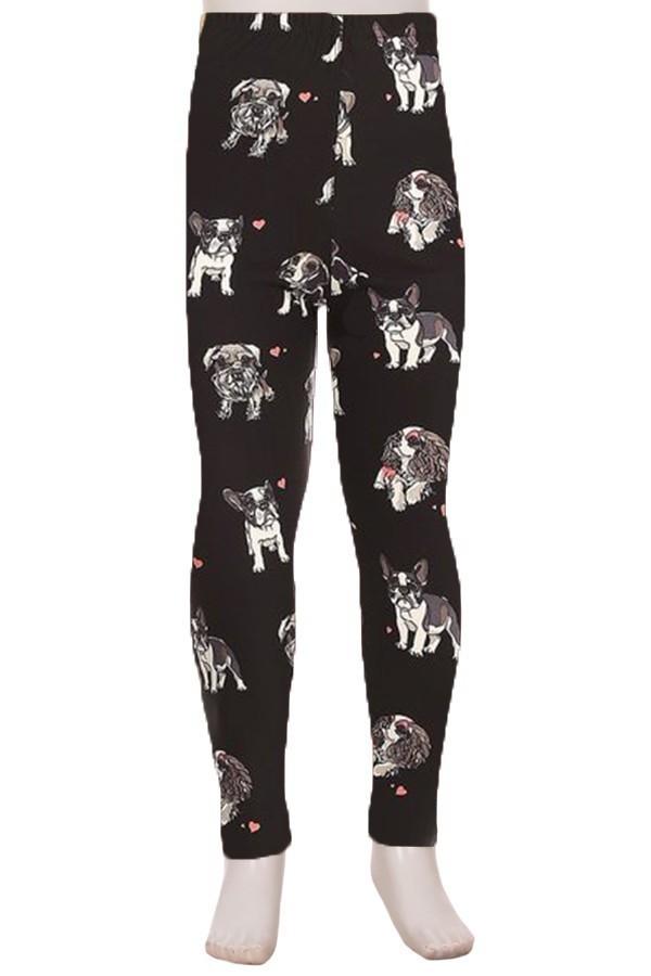 Dogs Printed Kids Leggings 1