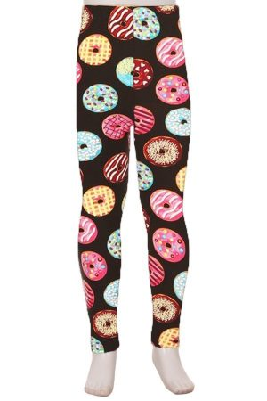 Donuts Print Kids Leggings 1