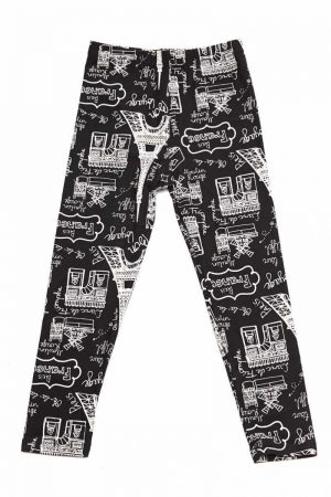 Paris Eiffel Tower Print Kids Leggings 3
