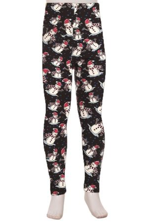 Snowman Print Kids Leggings 4