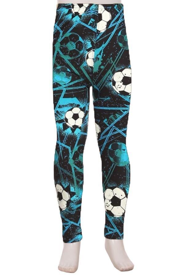 Soccer ball (football) Print Kids Leggings 1