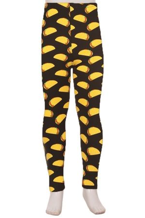 Tacos Printed Kids Leggings 3