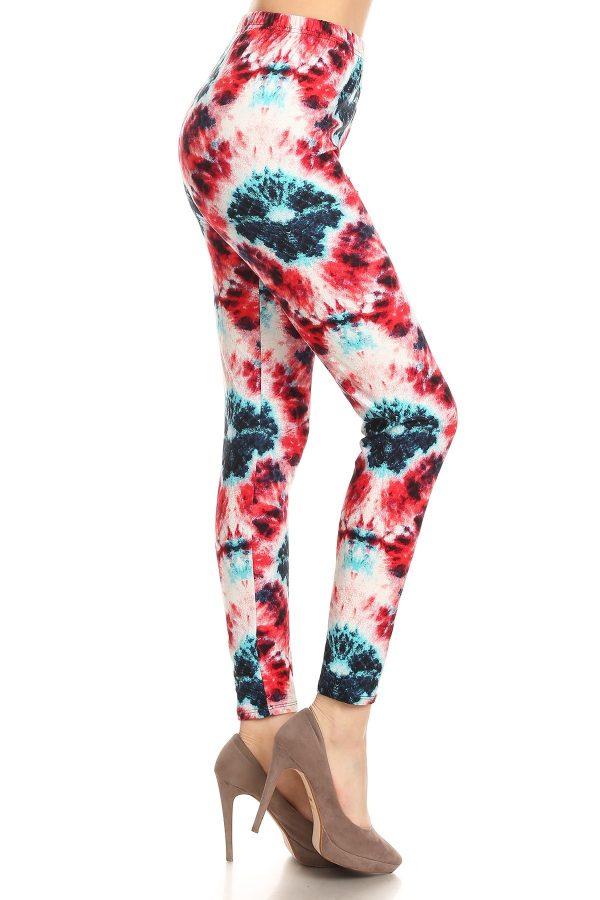 Yoga Band Tie Dye Printed Leggings 1