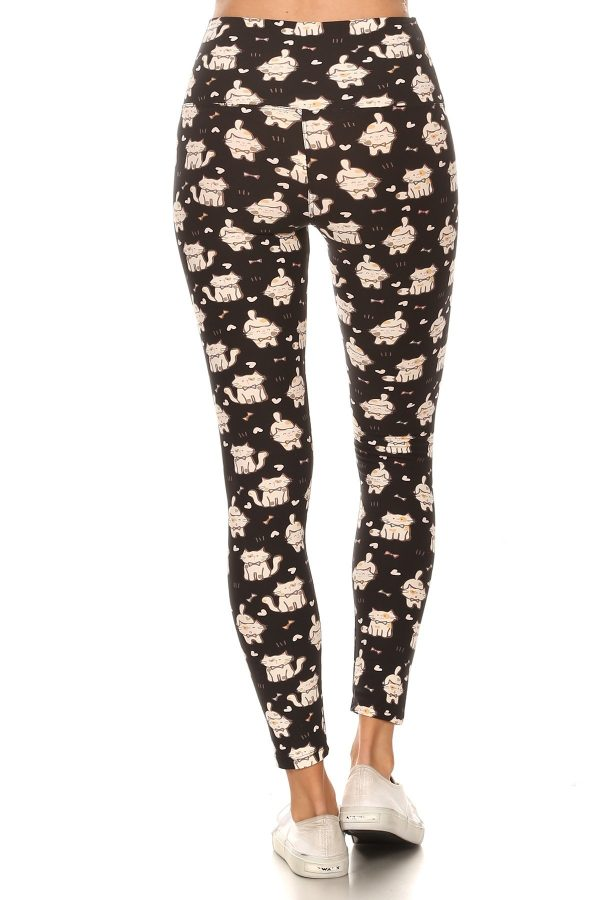 Yoga Band Cats Print Leggings 3