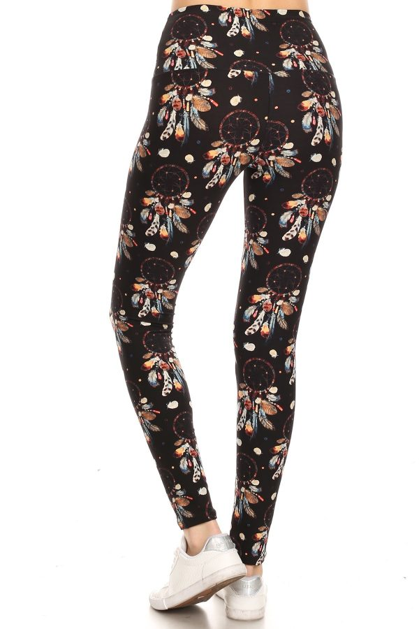Yoga Band Dream Catcher Print Leggings 3