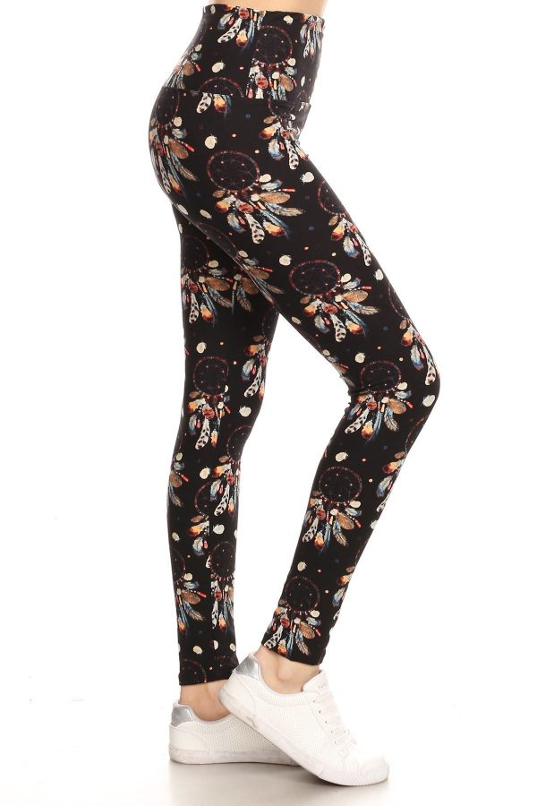 Yoga Band Dream Catcher Print Leggings 1