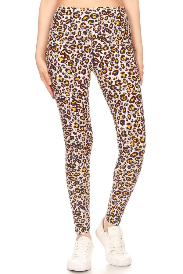 Yoga Band Leopard Print Leggings 2