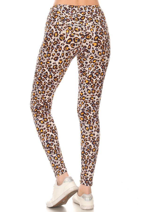 Yoga Band Leopard Print Leggings 3