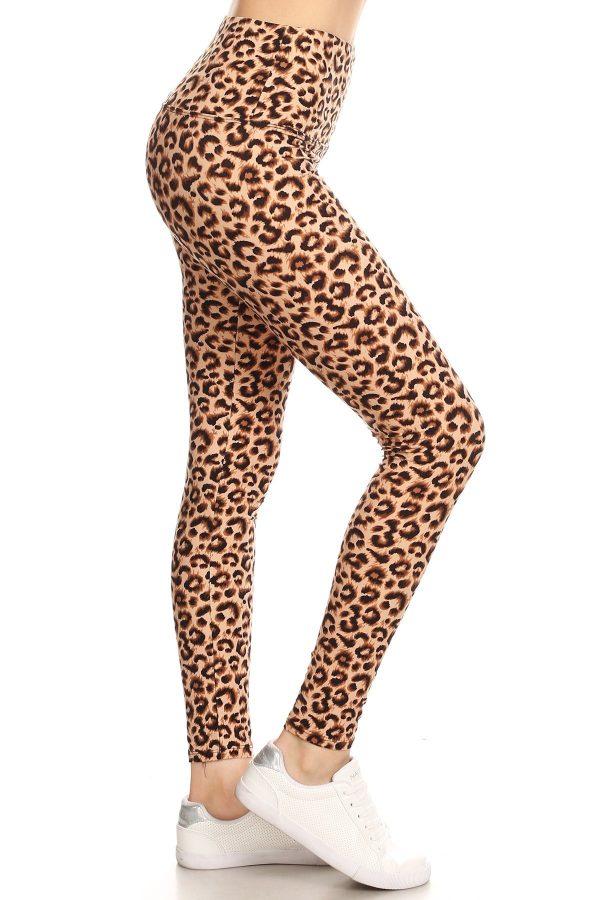 Yoga Band Leopard Print Leggings 1
