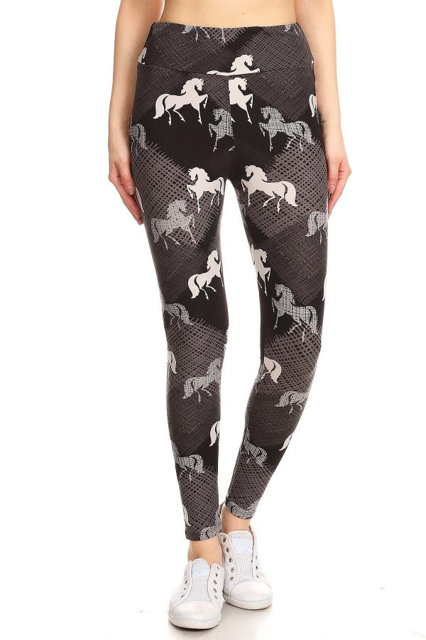 Yoga Band Mauve Stallion Leggings 2