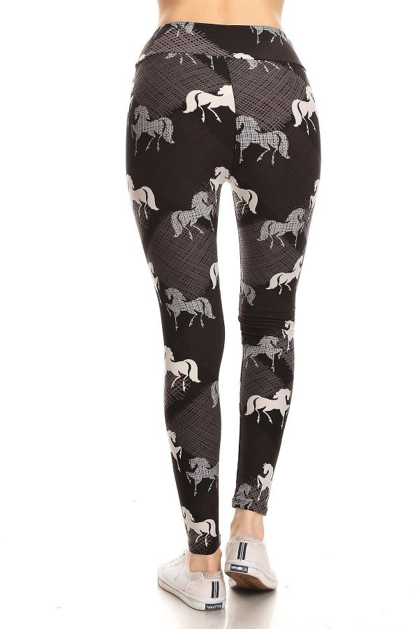 Yoga Band Mauve Stallion Leggings 3
