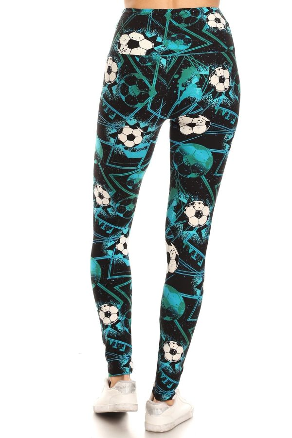 Yoga Band Soccer Print Leggings 3