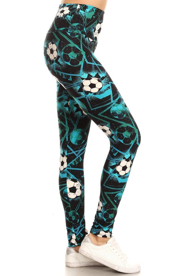 Yoga Band Soccer Print Leggings 1