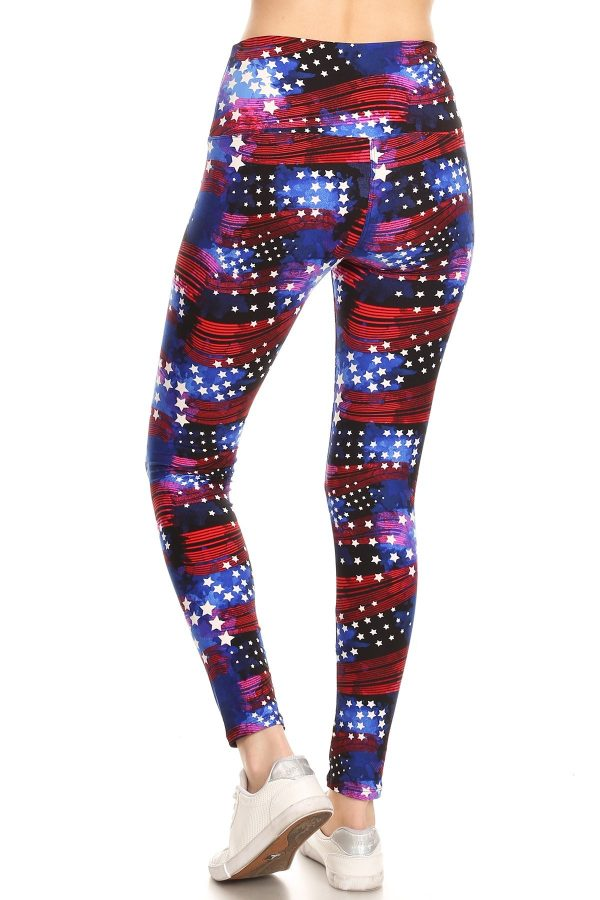 Yoga Band Star Print Leggings 3