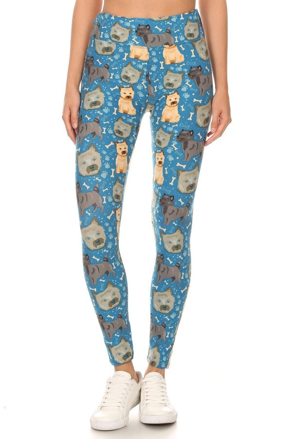 Yoga Band All Over Puppy Treats And Paw Print Leggings 2