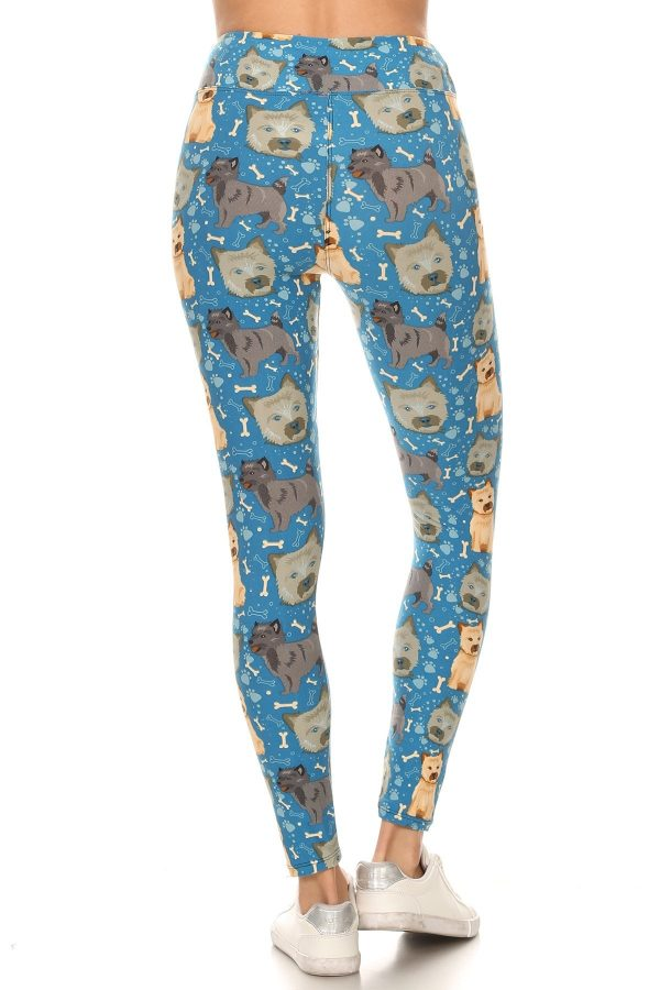 Yoga Band All Over Puppy Treats And Paw Print Leggings 3