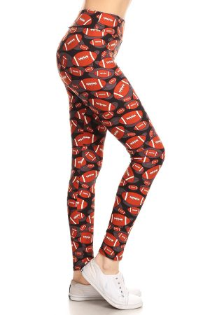 Yoga Band American Football Print Leggings 5
