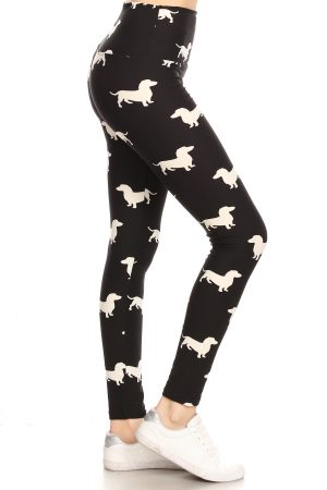 Yoga Band Dog Print Leggings 4