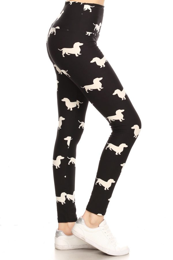 Yoga Band Dog Print Leggings 1