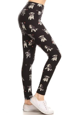 Yoga Band Dog Printed Leggings 4