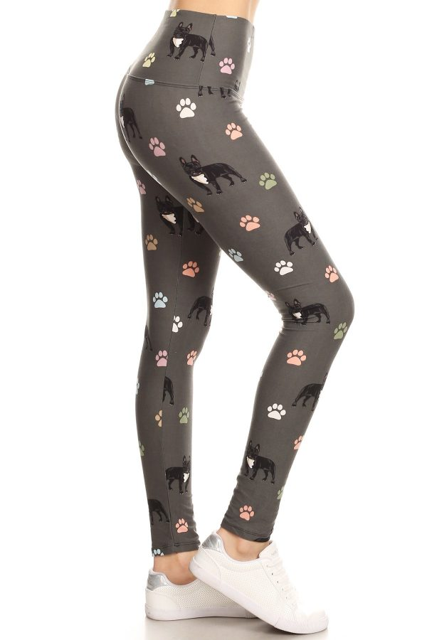 Yoga Band Dog and Paw Print Leggings 1