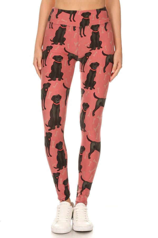 Yoga Band Doggy And Treats Print Leggings 2