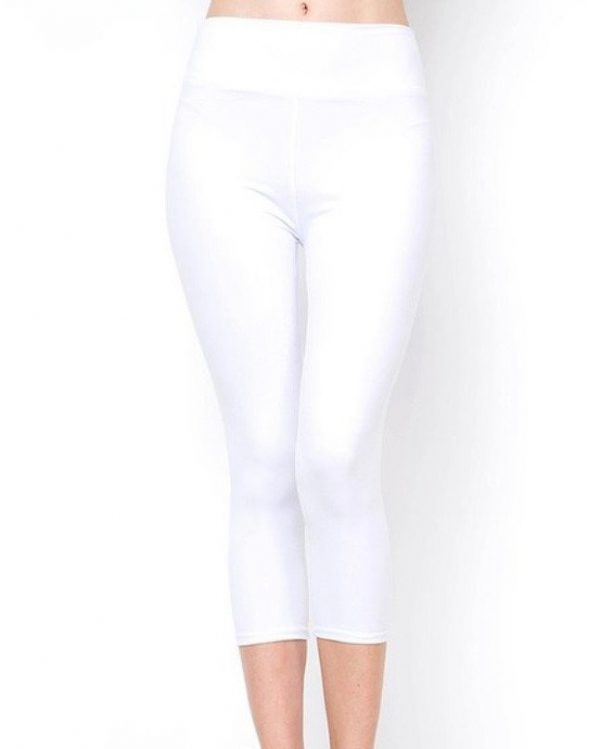 Yoga Band Solid White Capri 1
