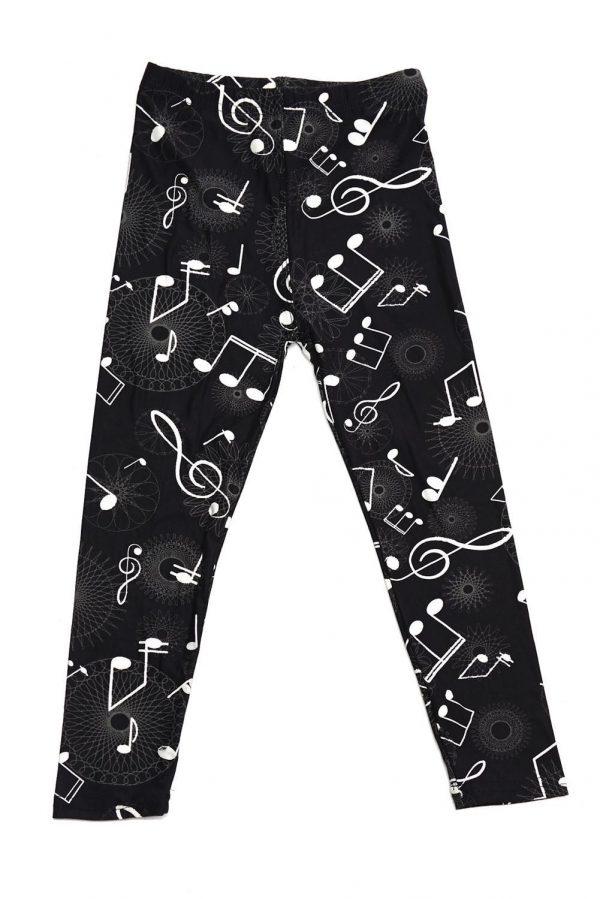 Musical Notes Print Kids Leggings 1
