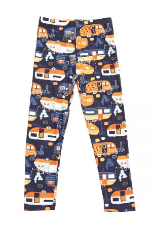 Modern Campers Print Kids Leggings 4
