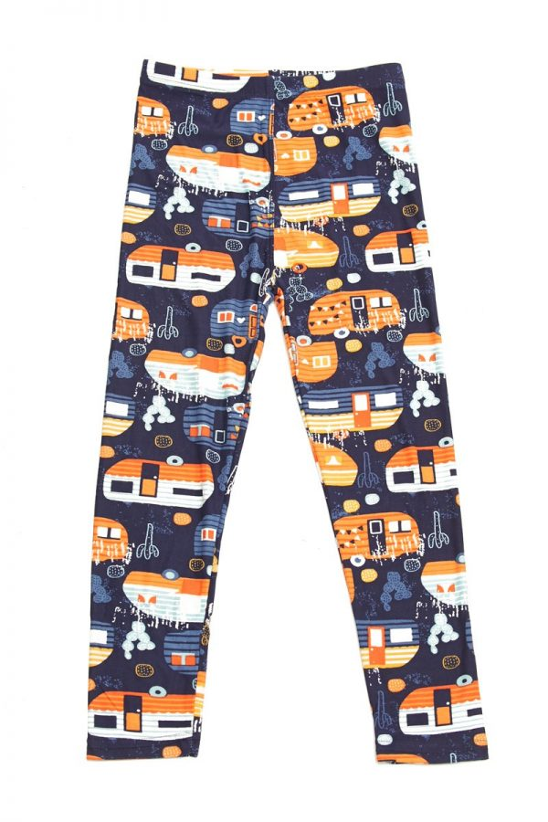 Modern Campers Print Kids Leggings 1