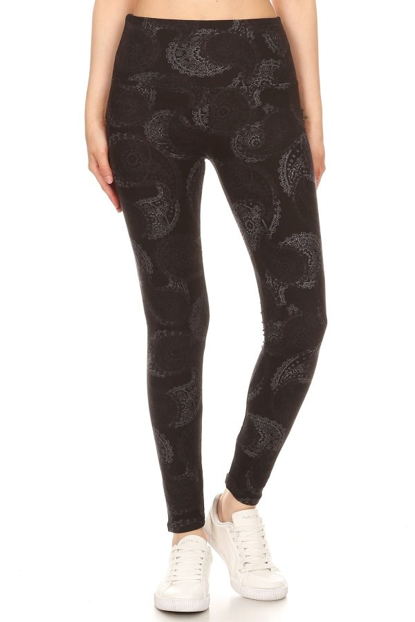 Yoga Band Paisley Print Leggings 2
