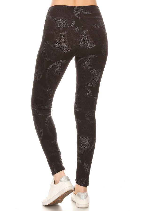 Yoga Band Paisley Print Leggings 3