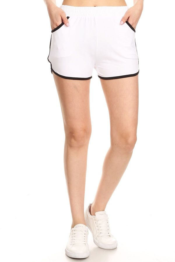 White Dolphin Shorts with Pockets 1