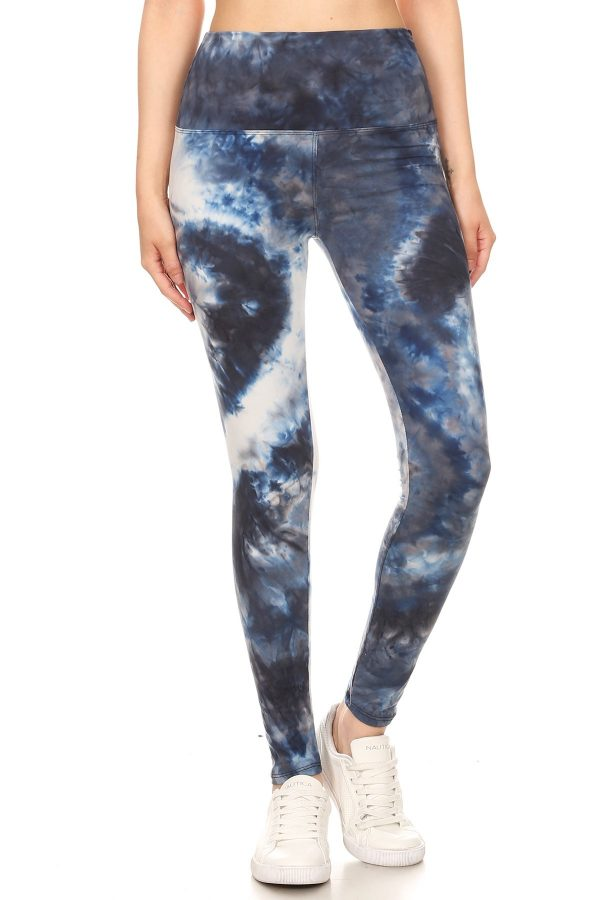 Yoga Band Tie Dye Print Leggings 2