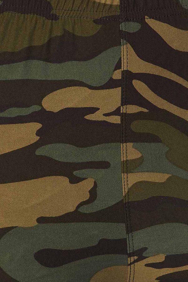Camouflage Print Capri 4