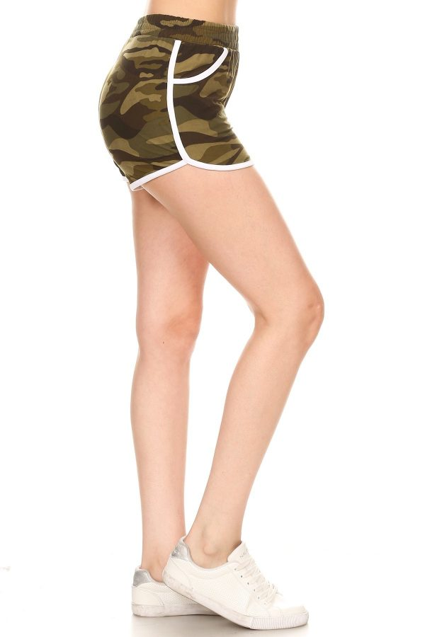 Camouflage Print Shorts with Pockets 1