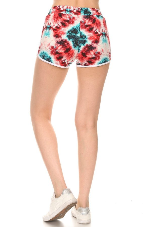 Tie dye Print Shorts with Pockets 3