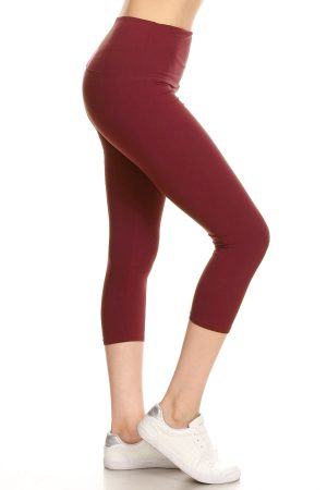 Yoga Band Solid Burgundy Capri