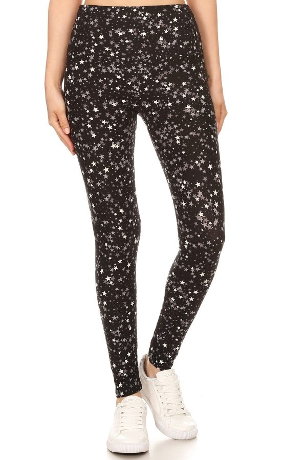 Yoga Band Star Printed Leggings 2