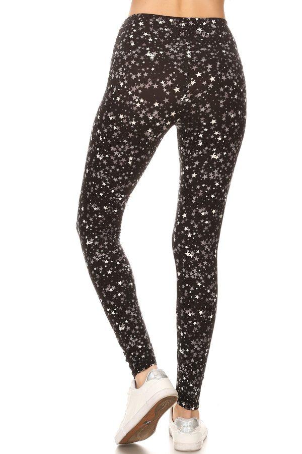 Yoga Band Star Printed Leggings 3