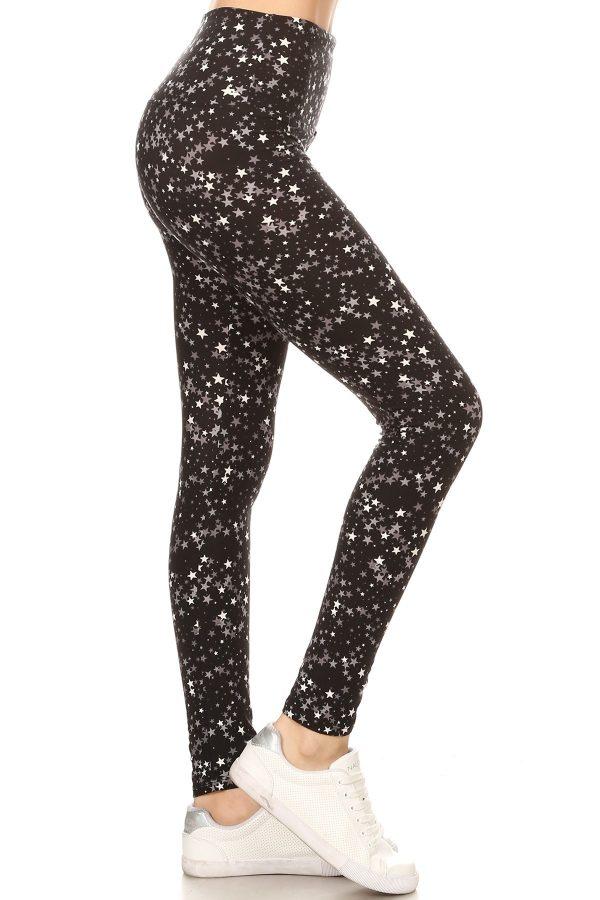 Yoga Band Star Printed Leggings 1