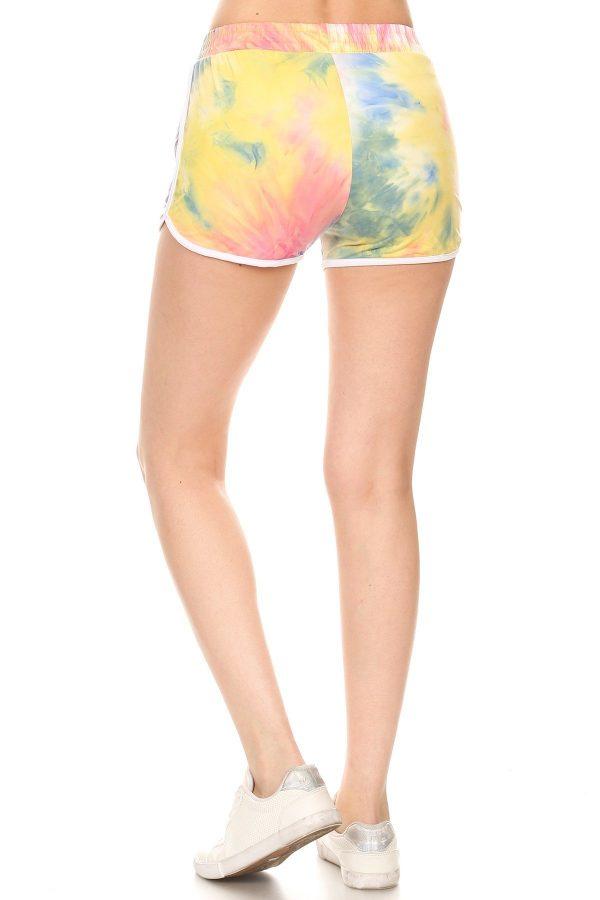 Multi Color Tie Dye Print Shorts 3