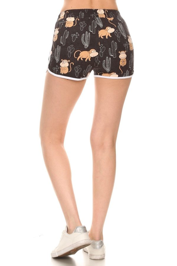 Cactus and Monkey Print Shorts with Pockets 3