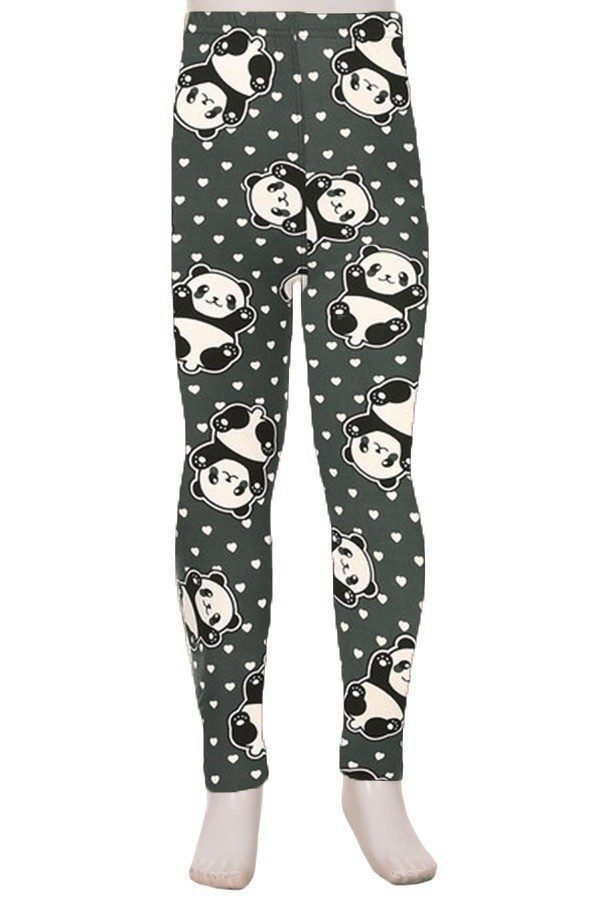 Panda Print Kids Leggings 1