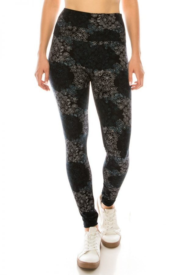 Yoga Band Multi Floral Print Leggings 2